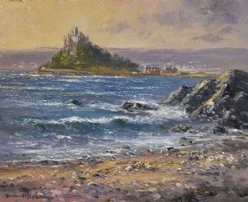 Richard Blowey Original Oil Painting Of St Michael's Mount Cornwall
